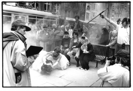 "<h4 style=""margin:0px 0px 5px 0px"">(H) Swanston Street movie scene</h4>Medium: silver gelatin print<br />Price: $400 