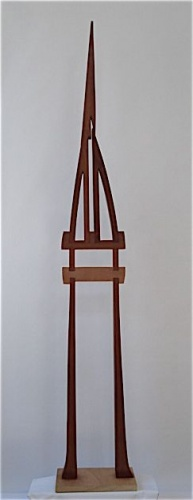 "<h4 style=""margin:0px 0px 5px 0px;"">Robert Hawkins - Buttress</h4>Medium: Silky Oak, Rosewood & Aluminium<br />Price: $4,500 <span style=""color:#aaa"">
