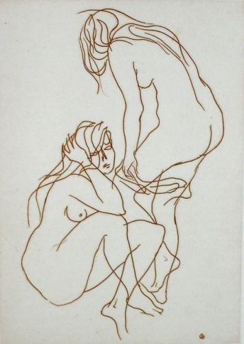 "<h4 style=""margin:0px 0px 5px 0px"">2 Nude Girls</h4>Medium: Etching<br />Price: $ Price On Application 