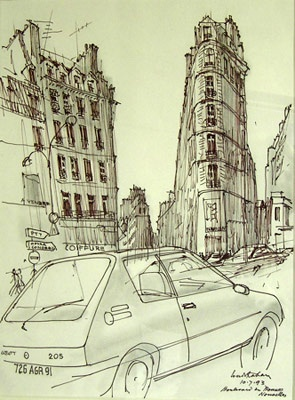 "<h4 style=""margin:0px 0px 5px 0px"">Boulevard de Bonne Nouvelle</h4>Medium: Pen and Ink/Graphite<br />Price: $2,500 