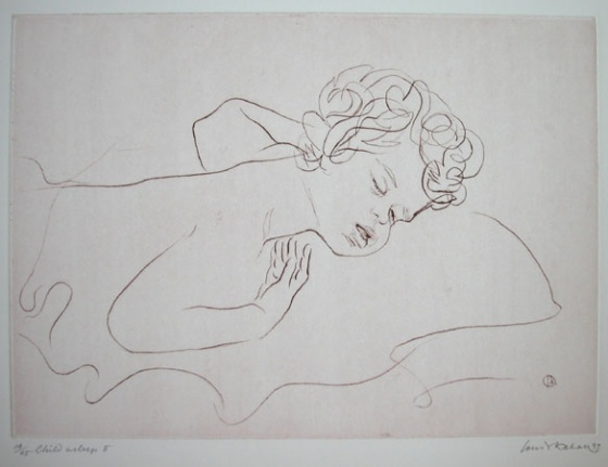 Child Asleep 2 by Louis Kahan