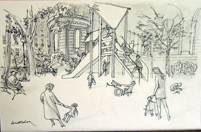 "<h4 style=""margin:0px 0px 5px 0px"">Children's Garden</h4>Medium: Pen and Ink/Graphite<br />Price: $3,000 