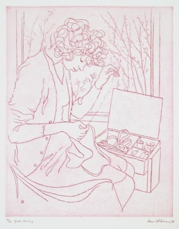 "<h4 style=""margin:0px 0px 5px 0px"">Girl Sewing</h4>Medium: Etching<br />Price: $660 