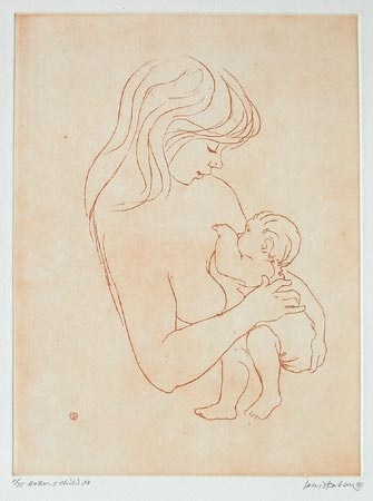 "<h4 style=""margin:0px 0px 5px 0px"">Mother & Child XII</h4>Medium: Etching<br />Price: $880 