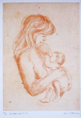 "<h4 style=""margin:0px 0px 5px 0px;"">Mother & Child XII 2nd state</h4>Medium: Etching<br />Price: $900 <span style=""color:#aaa"">