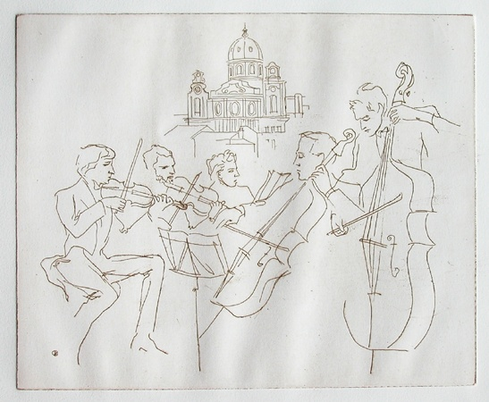 "<h4 style=""margin:0px 0px 5px 0px;"">Quintett in Salzburg</h4>Medium: Etching<br />Price: Sold <span style=""color:#aaa"">