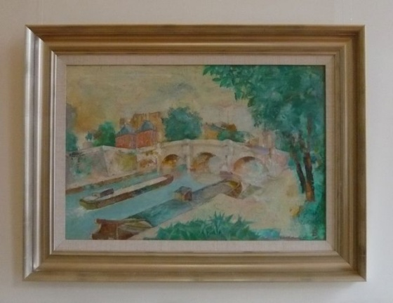 "<h4 style=""margin:0px 0px 5px 0px"">Pont Neuf by Louis Kahan</h4>Medium: OIl on canvas on board<br />Price: Sold<span class=""helptip"" style=""color:#ff0000;"" title=""This artwork been sold""><img src=""/images/reddot1.gif"" border=""0"" height=""10"" /></span> 