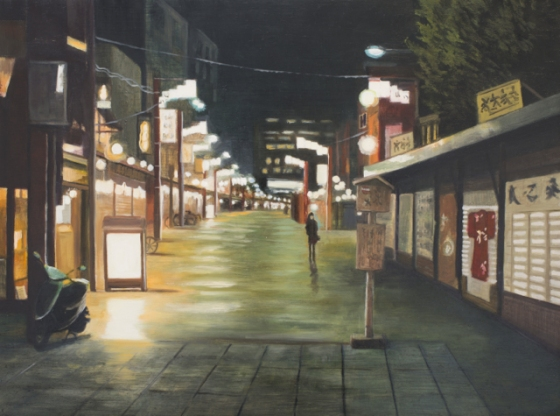 "<h4 style=""margin:0px 0px 5px 0px;"">Asakusa</h4>Medium: Oil on panel, Framed<br />Price: $2,500 <span style=""color:#aaa"">