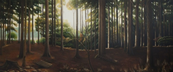 "<h4 style=""margin:0px 0px 5px 0px;"">Japanese Forest-Hiko San</h4>Medium: Oil on canvas<br />Price: $8,000 <span style=""color:#aaa"">