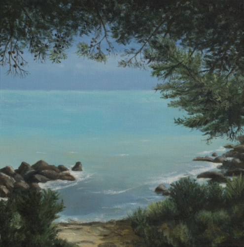 "<h4 style=""margin:0px 0px 5px 0px;"">Quiet Cove</h4>Medium: Oil on Canvas<br />Price: $2,500 <span style=""color:#aaa"">