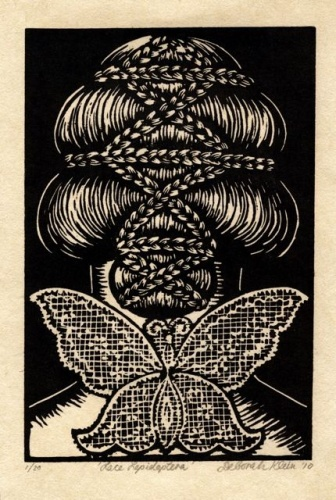 "Lace Lepidoptera<br /><br />Medium: Linocut<br />Price: $ Price On Application<br /><a href=""Artwork-Klein-LaceLepidoptera-2498.htm"">View full artwork details</a>"
