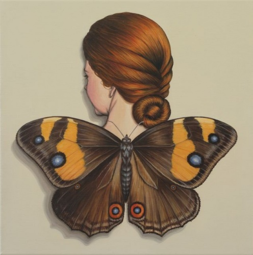 "Sword-grass Brown, Winged Woman<br /><br />Medium: Acrylic on linen<br />Price: Sold<br /><a href=""Artwork-Klein-SwordgrassBrownWingedWoman-2461.htm"">View full artwork details</a>"