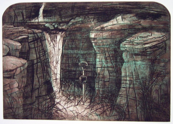 "<h4 style=""margin:0px 0px 5px 0px;"">Jim Jim Falls</h4>Medium: Etching<br />Price: $715 <span style=""color:#aaa"">