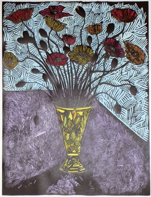 "<h4 style=""margin:0px 0px 5px 0px;"">Poppies</h4>Medium: Linocut  Hand Coloured<br />Price: $440 <span style=""color:#aaa"">