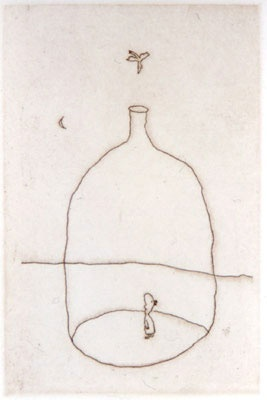 "<h4 style=""margin:0px 0px 5px 0px"">Bottle and bird</h4>Medium: Etching<br />Price: Currently Unavailable 