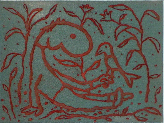 "<h4 style=""margin:0px 0px 5px 0px;"">Boy with a bird (red/grey)</h4>Medium: Etching<br />Price: $950 <span style=""color:#aaa"">