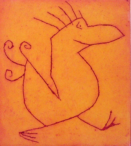 "<h4 style=""margin:0px 0px 5px 0px;"">Cheeky Bird</h4>Medium: Engraving on particle board<br />Price: $1,100 <span style=""color:#aaa"">