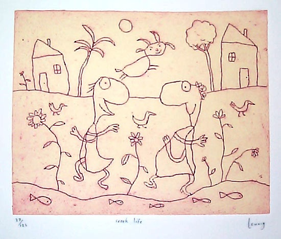 "<h4 style=""margin:0px 0px 5px 0px"">Creek life</h4>Medium: Engraving<br />Price: Currently Unavailable 