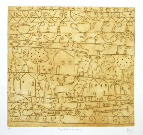 "<h4 style=""margin:0px 0px 5px 0px"">Fragment of the great tapestry</h4>Medium: Engraving on particle board<br />Price: Currently Unavailable 