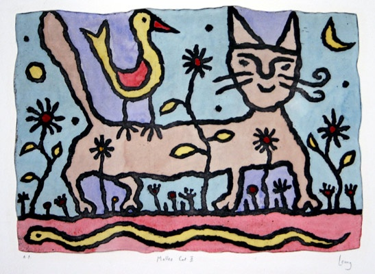 "<h4 style=""margin:0px 0px 5px 0px"">Mallee Cat II</h4>Medium: Etching, hand Col.<br />Price: Currently Unavailable 