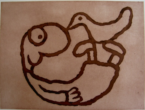 "<h4 style=""margin:0px 0px 5px 0px"">Playful Creature</h4>Medium: Etching<br />Price: Currently Unavailable 