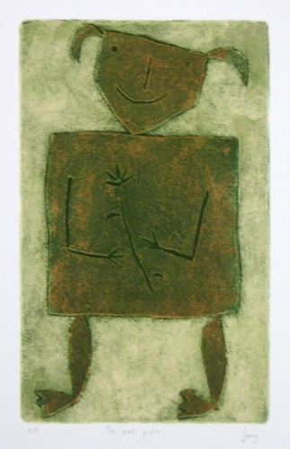"<h4 style=""margin:0px 0px 5px 0px"">The root pixie</h4>Medium: Collagraph/Colour roll up<br />Price: $1,200 