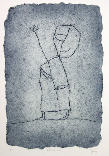 "<h4 style=""margin:0px 0px 5px 0px;"">child with rose</h4>Medium: Engraving on particle board<br />Price: $1,500 <span style=""color:#aaa"">