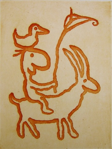 "<h4 style=""margin:0px 0px 5px 0px;"">goat with lily</h4>Medium: Etching<br />Price: $950 <span style=""color:#aaa"">