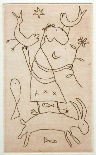 "<h4 style=""margin:0px 0px 5px 0px"">jump for joy</h4>Medium: Etching on steel<br />Price: $950 