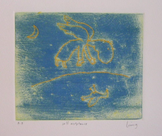 "<h4 style=""margin:0px 0px 5px 0px"">self acceptance</h4>Medium: Engraving on particle board/Colour roll up<br />Price: Currently Unavailable 
