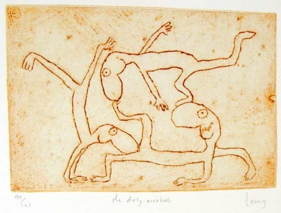 "<h4 style=""margin:0px 0px 5px 0px"">the dirty acrobats</h4>Medium: Engraving<br />Price: $950 