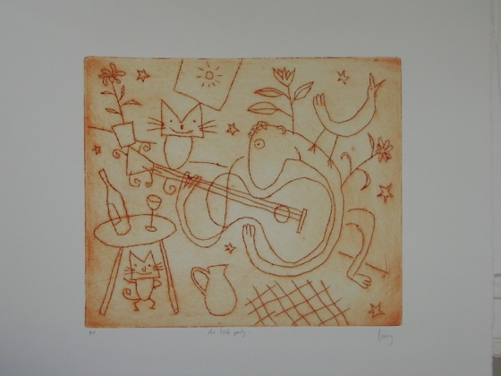 "<h4 style=""margin:0px 0px 5px 0px"">the little party</h4>Medium: Engraving on particle board<br />Price: Currently Unavailable 
