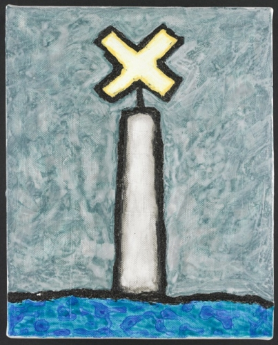 "Bay Marker<br /><br />Medium: Acrylic on canvas<br />Price: Sold<br /><a href=""Artwork-Matoulas-BayMarker-2868.htm"">View full artwork details</a>"