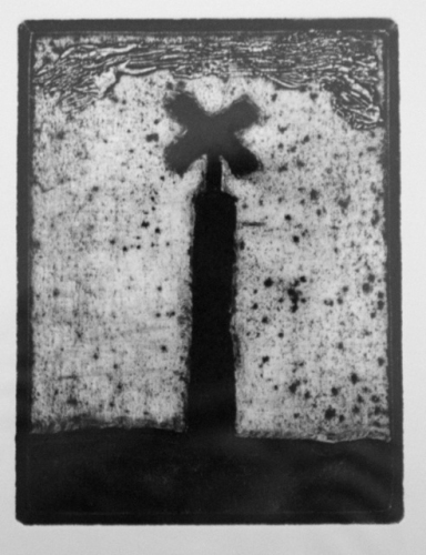 "Bay Marker<br /><br />Medium: Collograph Framed<br />Price: $480<br /><a href=""Artwork-Matoulas-BayMarker-2883.htm"">View full artwork details</a>"