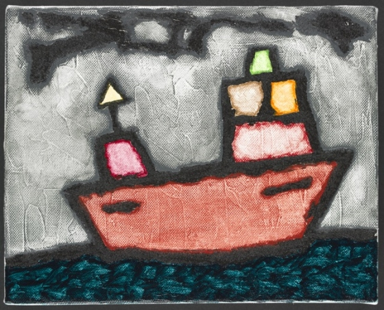 "Boat<br /><br />Medium: Acrylic on canvas<br />Price: Sold<br /><a href=""Artwork-Matoulas-Boat-2867.htm"">View full artwork details</a>"