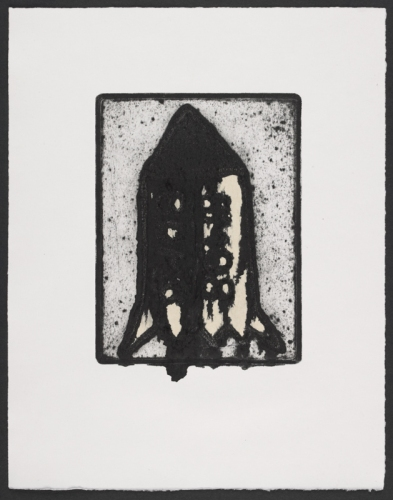 "Bomb 3<br /><br />Medium: Collograph chine colle Framed<br />Price: $580<br /><a href=""Artwork-Matoulas-Bomb3-2850.htm"">View full artwork details</a>"