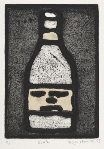 "Bottle<br /><br />Medium: Collograph  Chine colle, Framed<br />Price: $480<br /><a href=""Artwork-Matoulas-Bottle-2834.htm"">View full artwork details</a>"