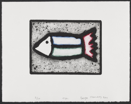 "Fish<br /><br />Medium: Collograph Framed<br />Price: $480<br /><a href=""Artwork-Matoulas-Fish-2854.htm"">View full artwork details</a>"