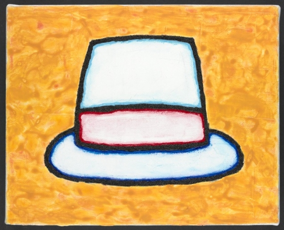 "Hat<br /><br />Medium: Acrylic on canvas<br />Price: $1,000<br /><a href=""Artwork-Matoulas-Hat-2864.htm"">View full artwork details</a>"