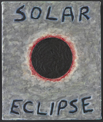 "Solar Eclipse<br /><br />Medium: Acrylic on canvas<br />Price: $1,200<br /><a href=""Artwork-Matoulas-SolarEclipse-2869.htm"">View full artwork details</a>"