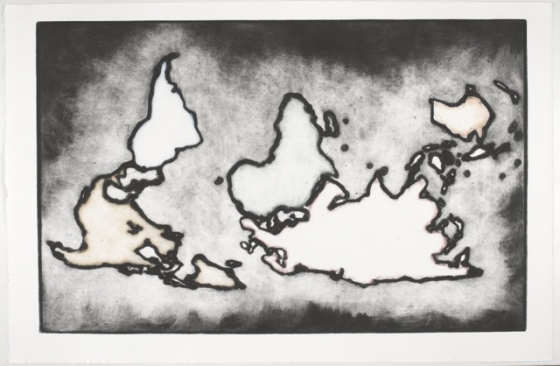 "<h4 style=""margin:0px 0px 5px 0px"">World Map 1</h4>Medium: Collograph Framed<br />Price: $ Price On Application 