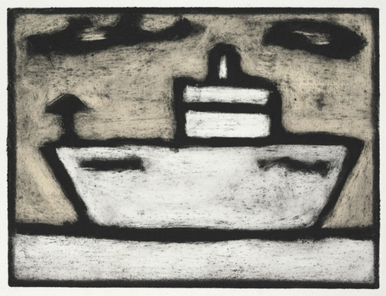 "<h4 style=""margin:0px 0px 5px 0px"">boat 1 </h4>Medium: Collograph Chine colle, Framed<br />Price: $460 