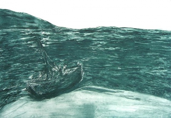 "Stranded<br /><br />Medium: Etching<br />Price: $900<br /><a href=""Artwork-McLoughlin-Stranded-2222.htm"">View full artwork details</a>"