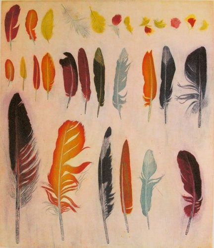 "<h4 style=""margin:0px 0px 5px 0px;"">A feather for each wind that blows</h4>Medium: Etching<br />Price: $1,550 <span style=""color:#aaa"">