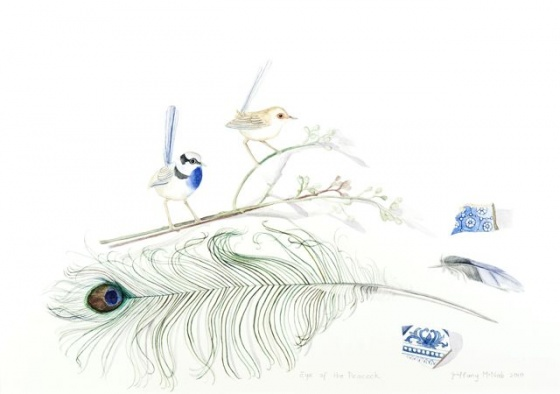 "<h4 style=""margin:0px 0px 5px 0px;"">Eye of the Peacock</h4>Medium: Watercolour<br />Price: Sold <span style=""color:#aaa"">