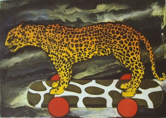 "<h4 style=""margin:0px 0px 5px 0px"">Leopard by Tiffany McNab</h4>Medium: Etching<br />Price: $950 