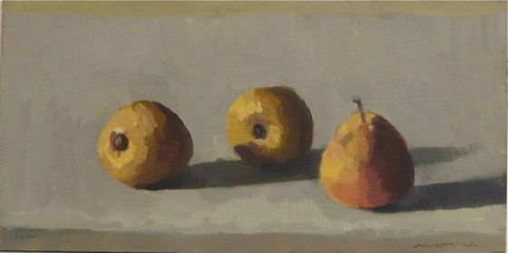 "<h4 style=""margin:0px 0px 5px 0px;"">Baby Pears</h4>Medium: Oil on cedar framed<br />Price: $1,200 <span style=""color:#aaa"">