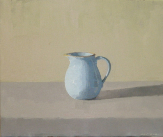 "<h4 style=""margin:0px 0px 5px 0px;"">Blue jug, morning</h4>Medium: Oil on linen framed<br />Price: Sold <span style=""color:#aaa"">
