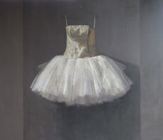 "<h4 style=""margin:0px 0px 5px 0px;"">Dress in Waiting</h4>Medium: Oil on linen<br />Price: Sold <span style=""color:#aaa"">