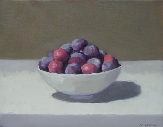 "<h4 style=""margin:0px 0px 5px 0px;"">Plums</h4>Medium: Oil on linen<br />Price: Sold <span style=""color:#aaa"">